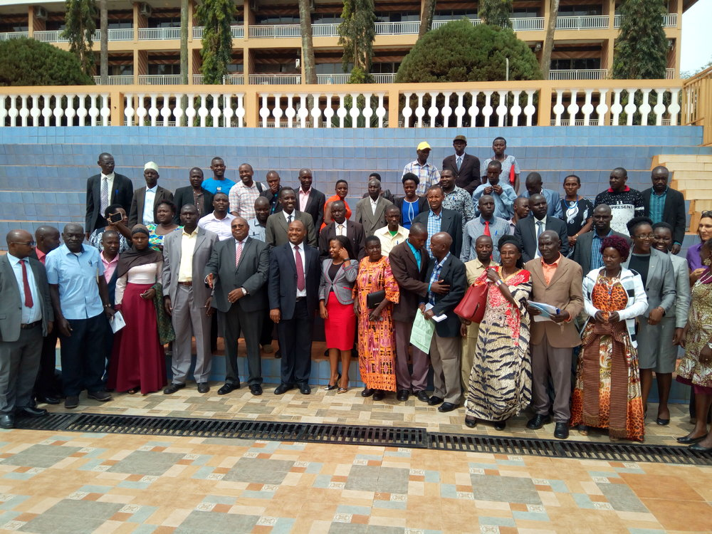 CSOs and Local Council leaders pause for a photo