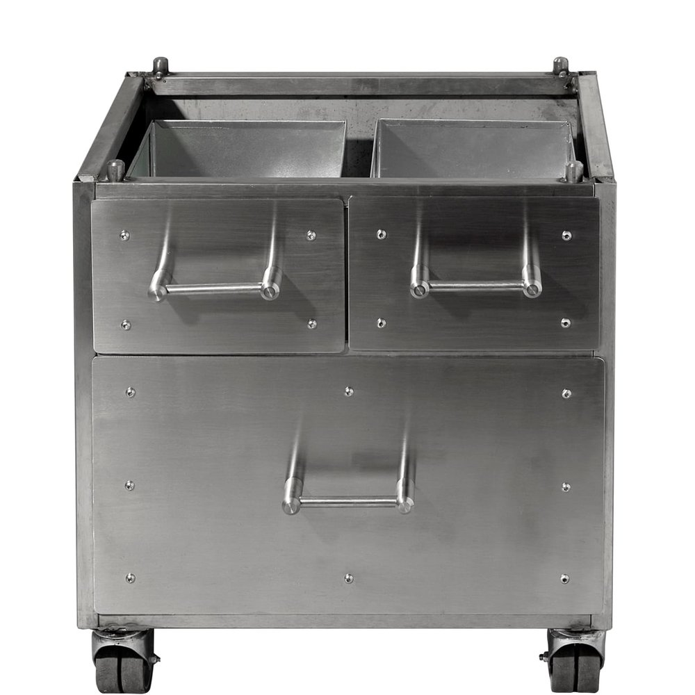The Harrison S Charcoal Oven optional cabinet