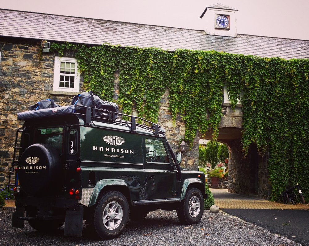 The Harrison S charcoal oven getting delivered in Harrison's gorgeous Land Rover Defender
