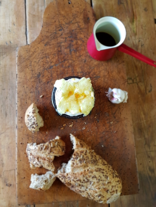 Harrison Charcoal Oven Baked Camembert with coffee and garlic infusion