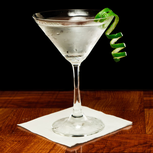 The Hoptini   Vodka Martini with a hoppy accent. Add a twist of lime. It will leave you stirred.