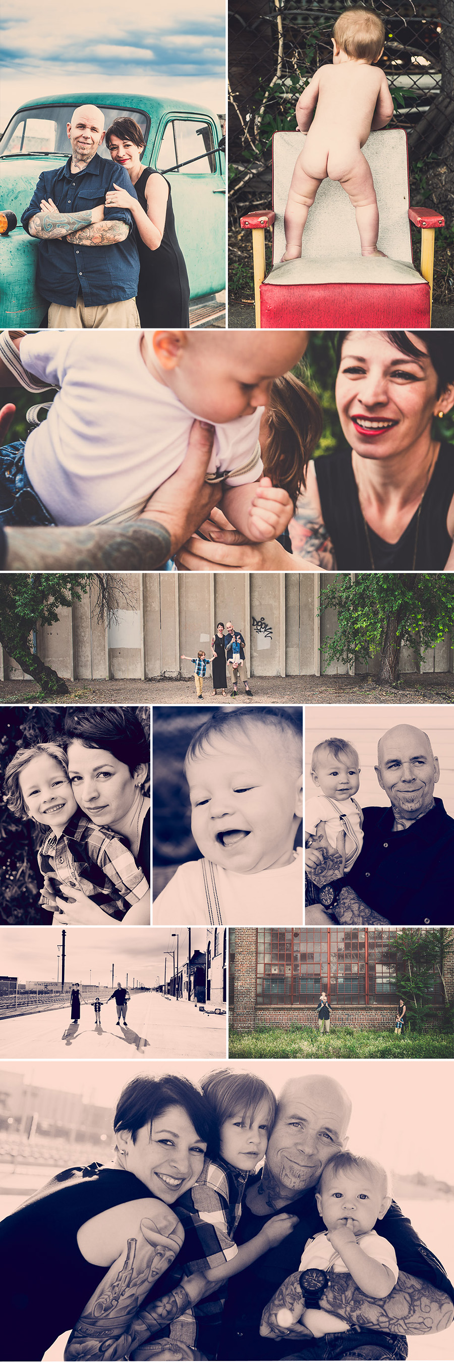 Denver RiNo Family Photography Collage Hydle 1