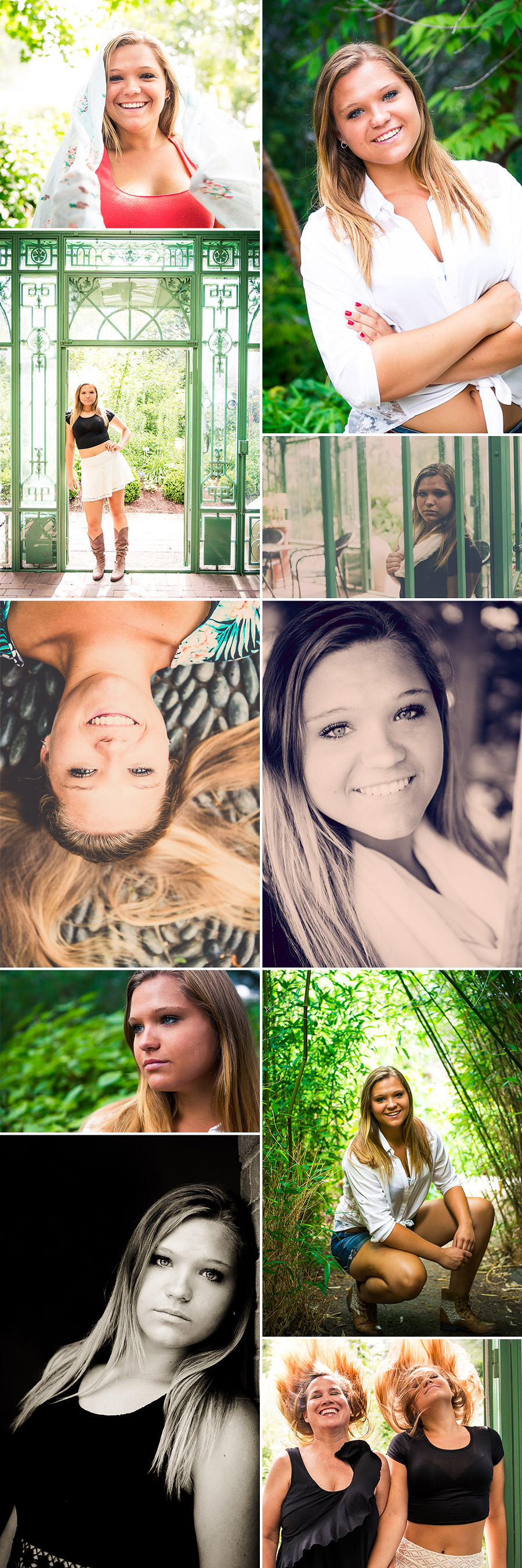 Mountain Range Senior Photos AshleyZ collage