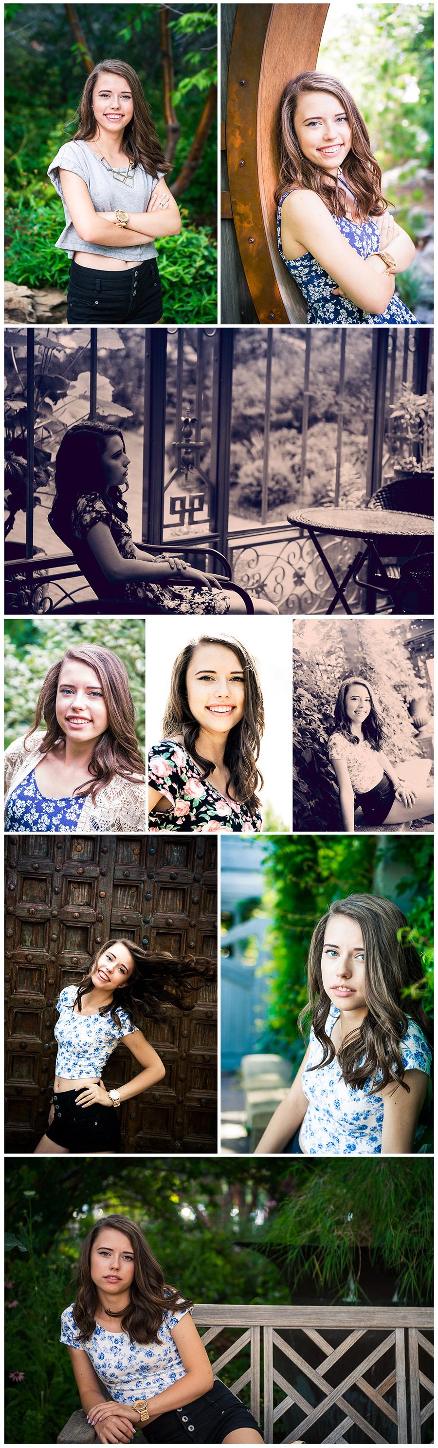 senior photo session Berkeley collage 2