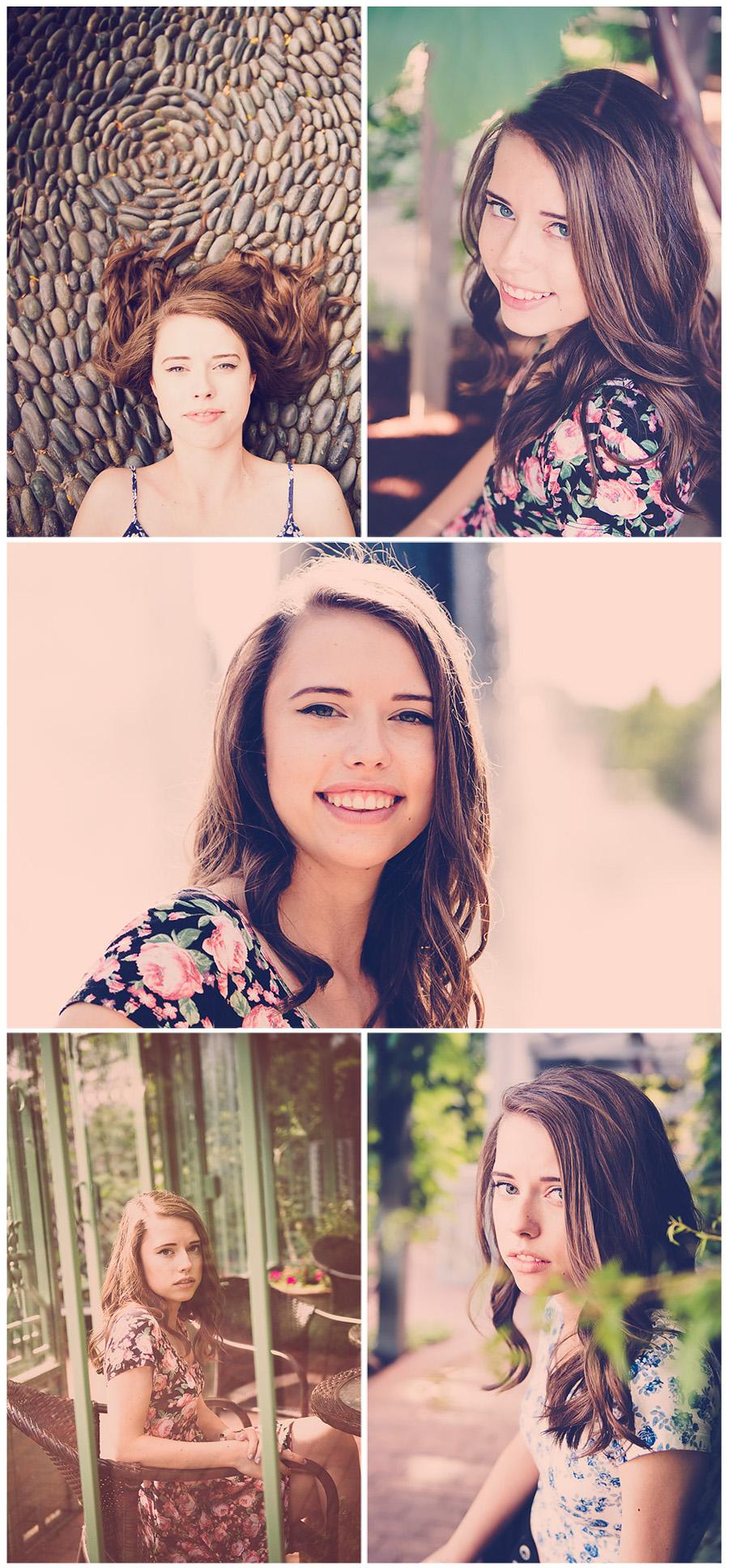 senior photo session Berkeley Magazine style collage