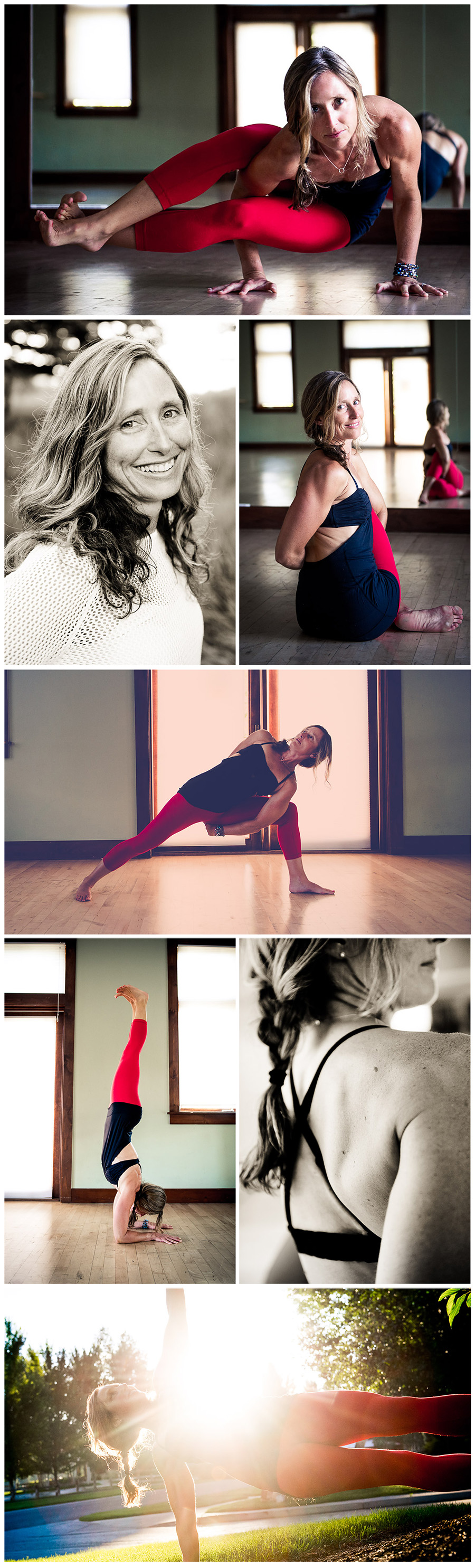 Yoga photos - Kallie collage