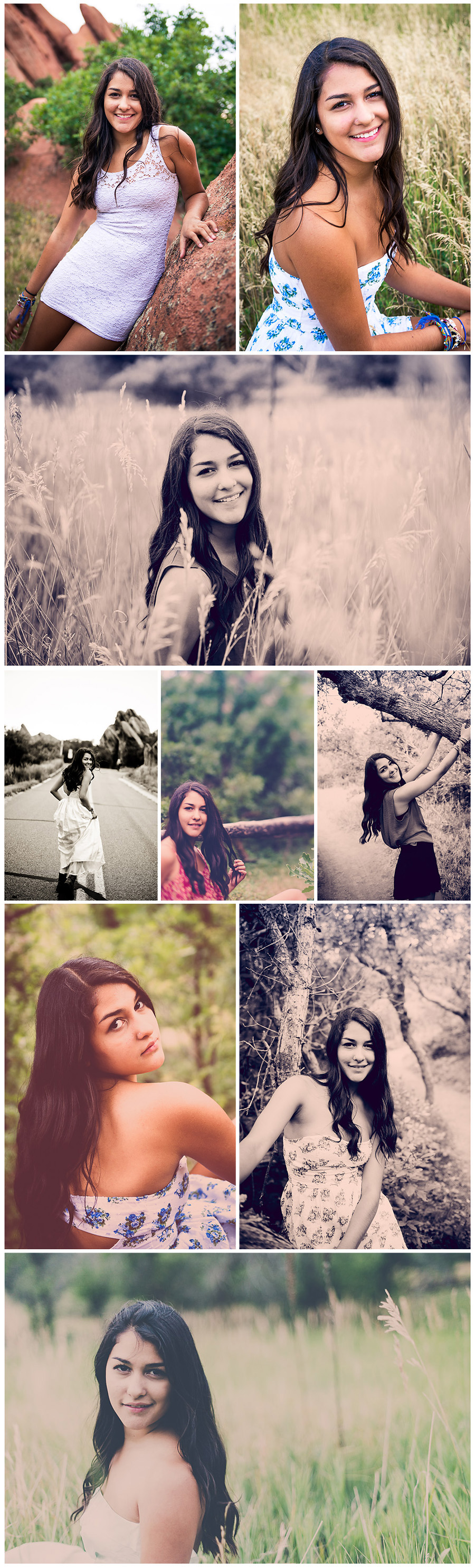 East High School Senior Pictures Jasmine Collage 1