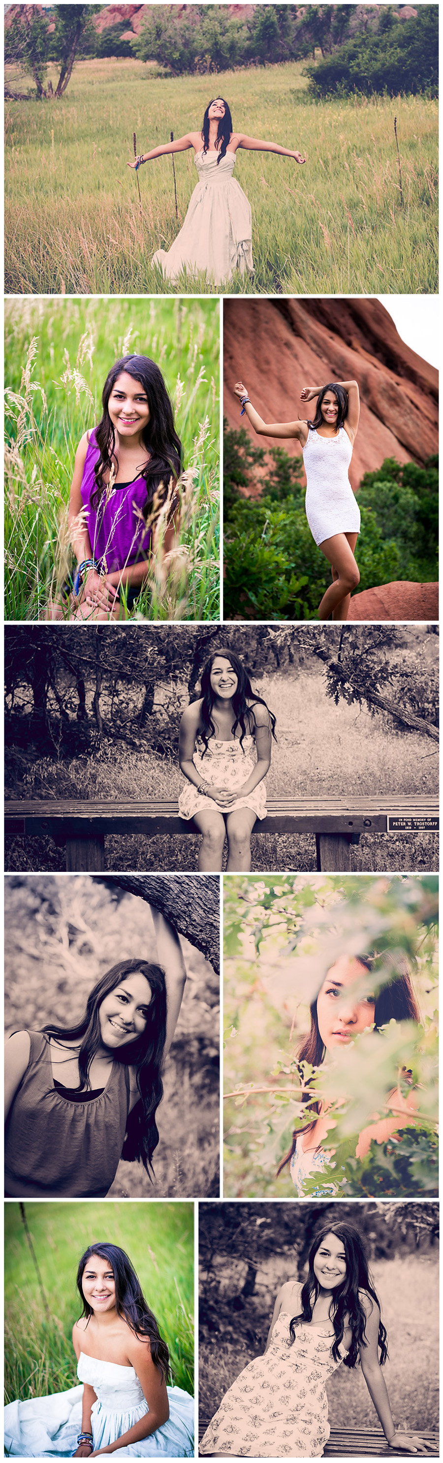 East High School Senior Pictures Jasmine Collage 3
