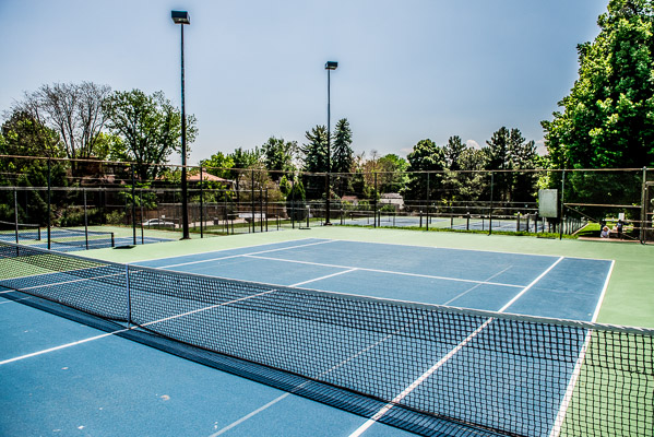 Congress Park tennis courts.