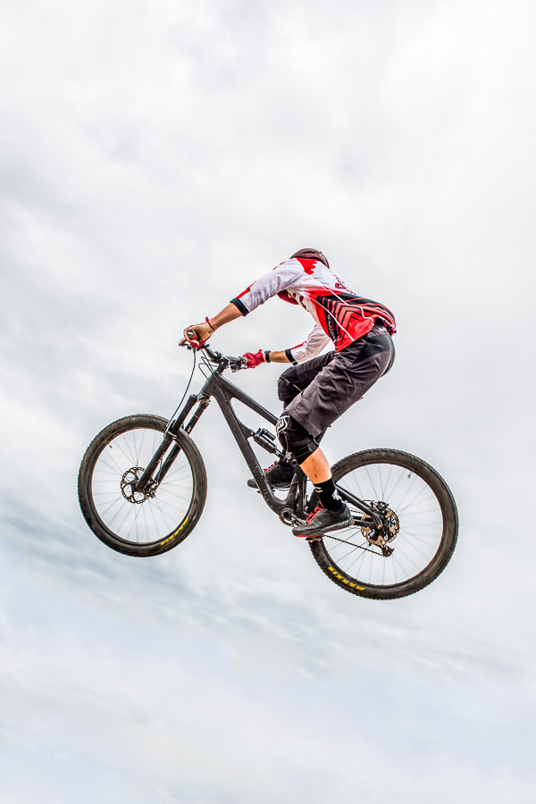 Enduro cycling - caught in the air.