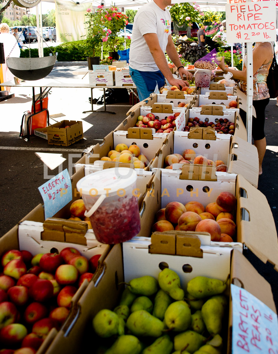 Colorado Fresh fruits from the western slope at the Cherry Creek Farmers Market