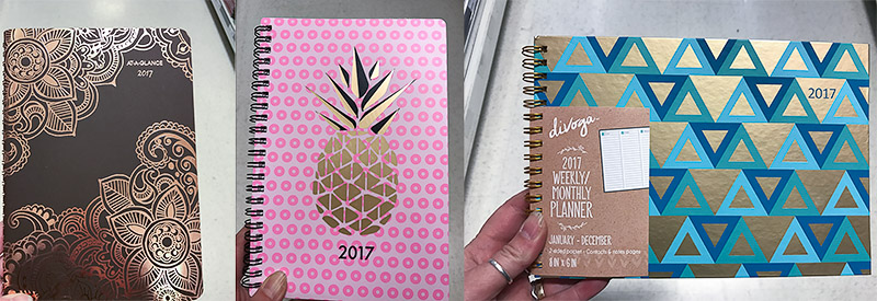 Examples of cute store bought planners