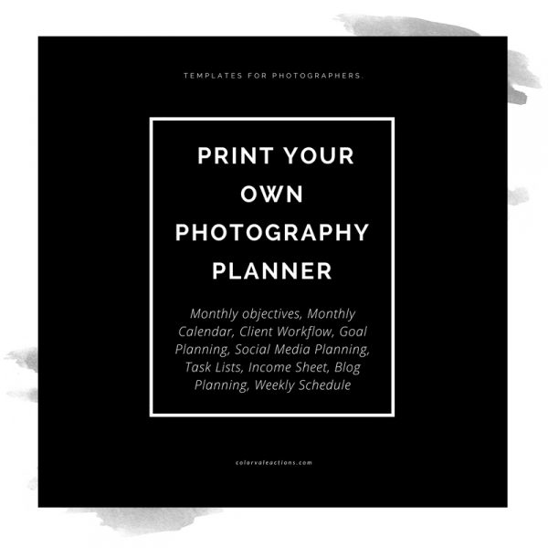 Best Planners for Photographers Colorvale Photographers Planner