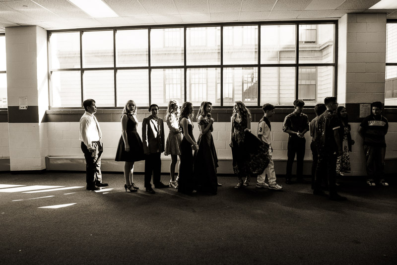 eighth grade continuation photos denver waiting in the hallway to enter