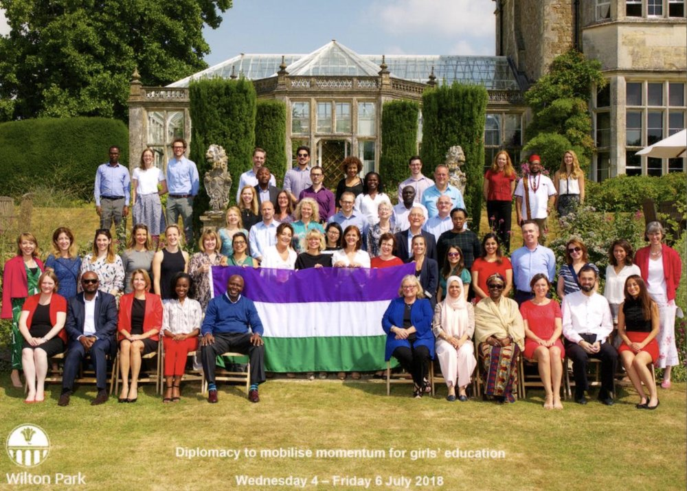 iMlango's Simon Bruce Kaniu at Wiston House in Sussex, seated on the front row, five in from the left.