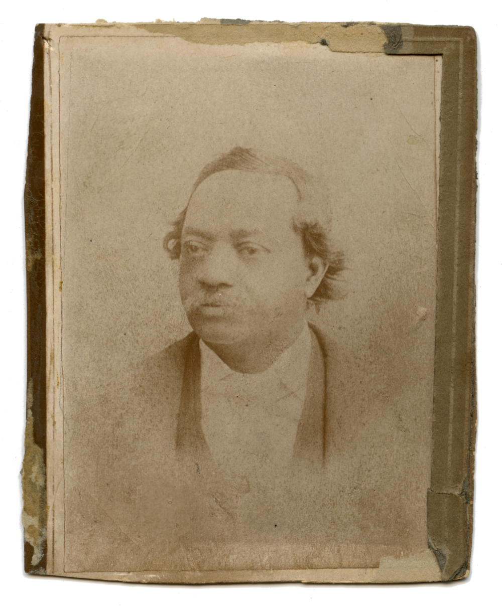 Author Maureen Egan discovered this long-hidden image, the only known photographic portrait of John Dabney, in 2015 at The Valentine, the preeminent museum of the history of Richmond, Virginia.  (  Displayed here courtesy of The Valentine.)