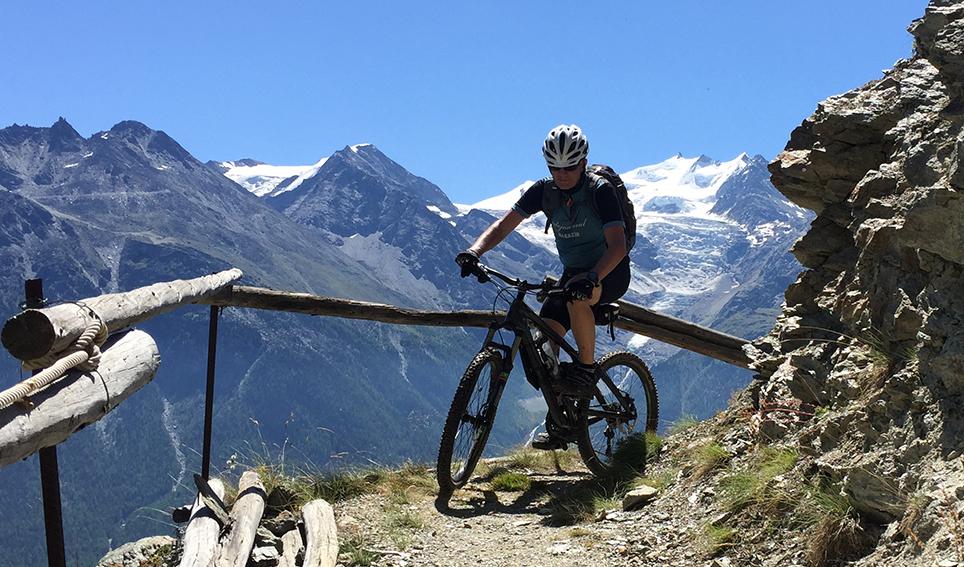 Mit dem Bike unterwegs im Wallis