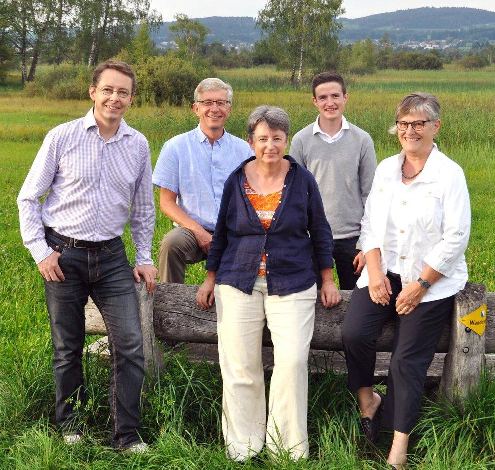 v.l.n.r. Stephan A. Mathez, Martin Wunderli, Christine Walter, Benjamin Walder, Esther Kündig