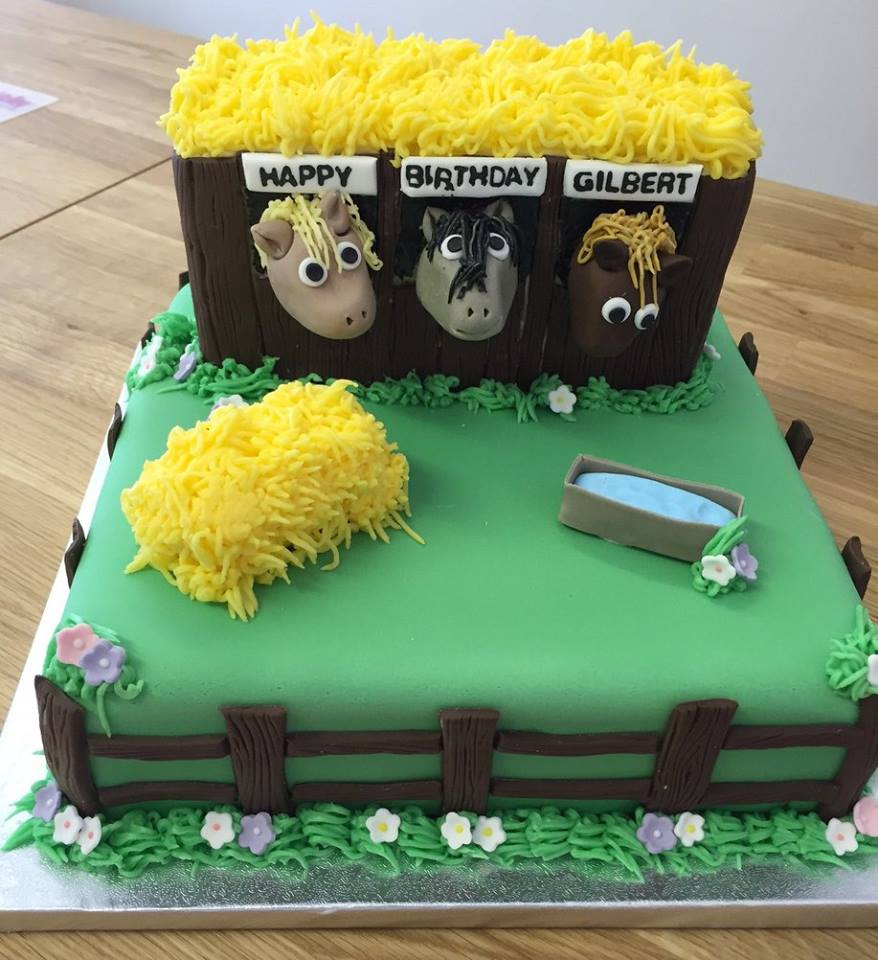 Stable horse cake