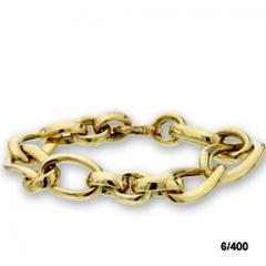 Gold link chain bracelet
