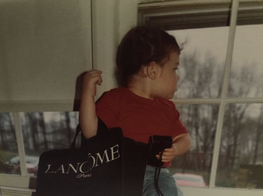 Me and my first bag.