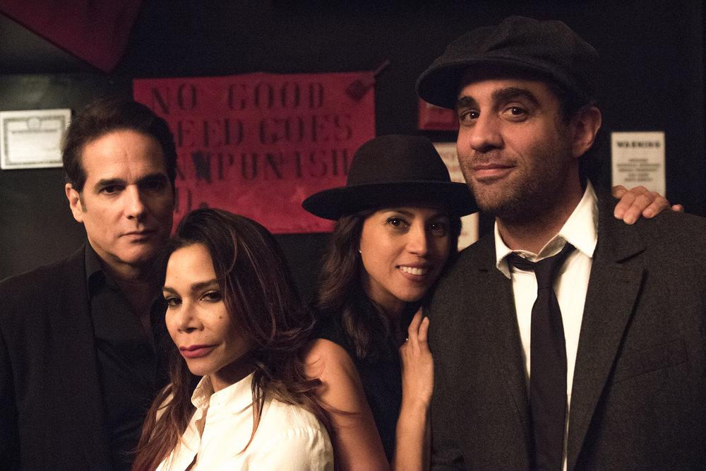 Yul Vazquez, Daphne Rubin-Vega, Elizabeth Rodriguez, Bobby Cannavale Backstage at Celebrity Charades.jpg