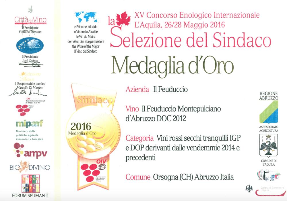 XV Concorso Enologico Internazionale L'Aquila - La Selezione del Sindaco