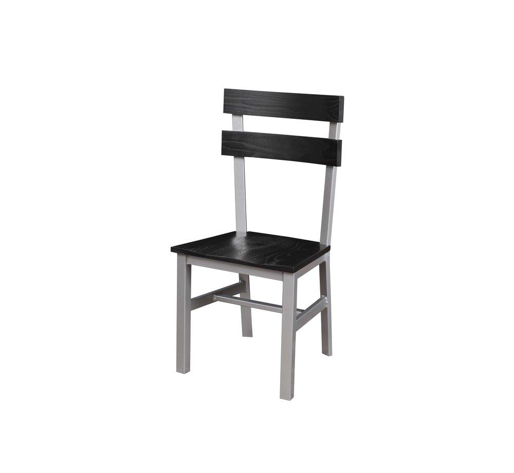 The Dartmouth Chair in Black Oak & Steel