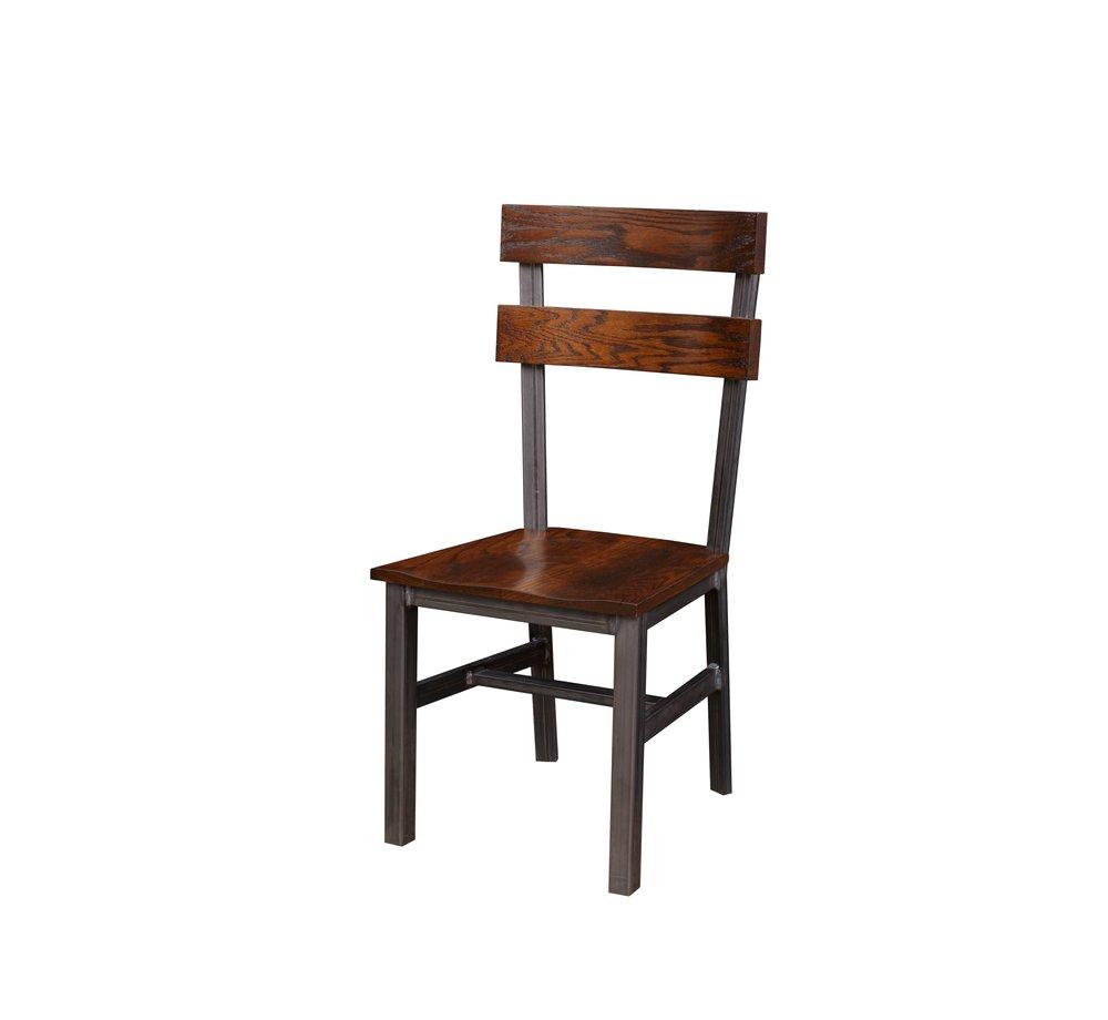 The Dartmouth Chair in Harvest Oak & Steel