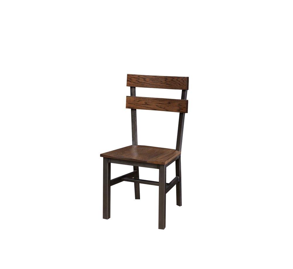 The Dartmouth Chair in Ebony Oak & Steel