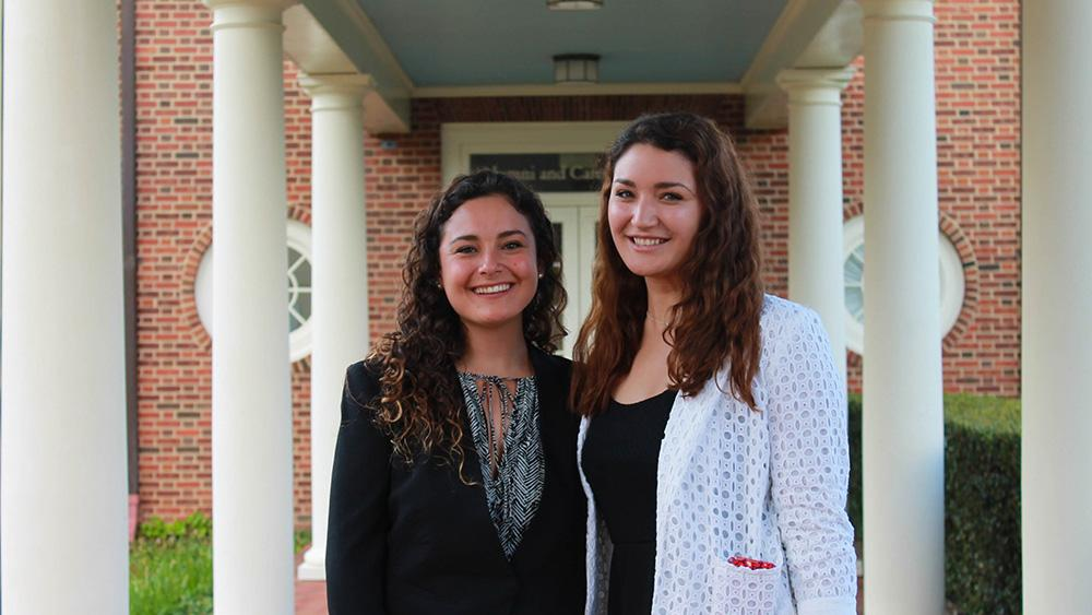 University of Richmond seniors Fabiana Ayala and Yasmine Karam have been awarded a $10,000 Projects for Peace grant for their proposal to support the economic empowerment of women in Bolivia.