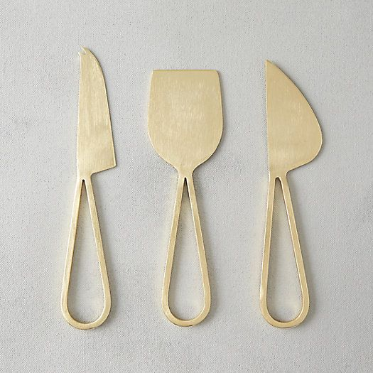 Terrain Brass Loop Handle Cheese Knives.jpg