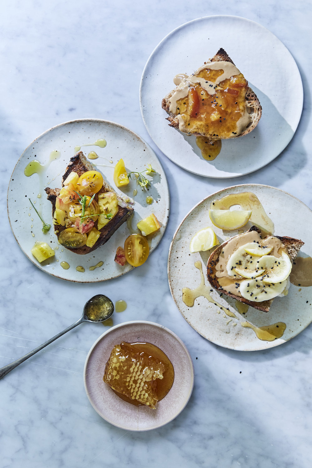 3 SEXY ANYTIME TOASTS FROM EVERY DAY IS SATURDAY COOKBOOK #everydayissaturdaycookbook #sarahcopeland #thingsontoast #toast #edibleliving #cookbook #foodstyling #foodphotography #gentlandhyers