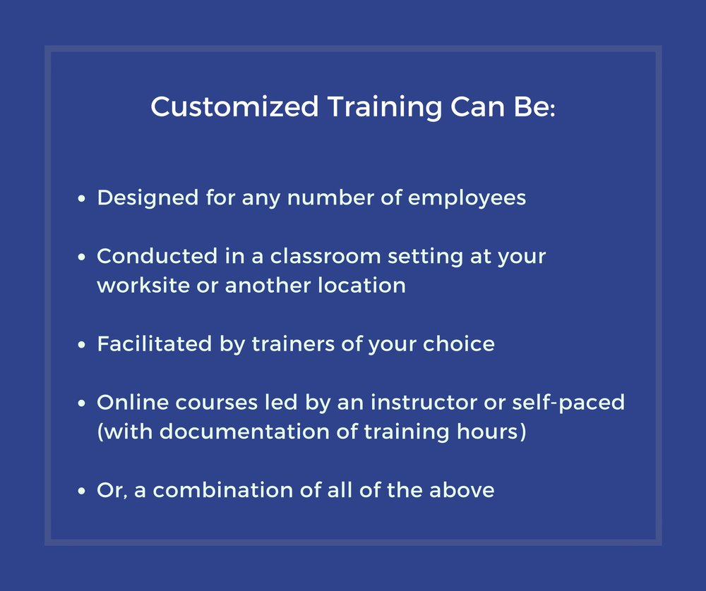 Customized training caption with additional information