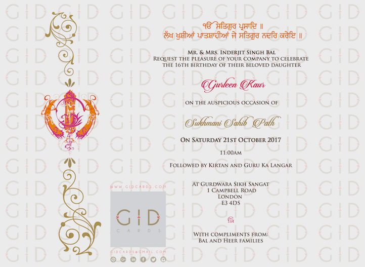 Religious invitations gid cards product code flrkd04 a5 size stopboris Choice Image