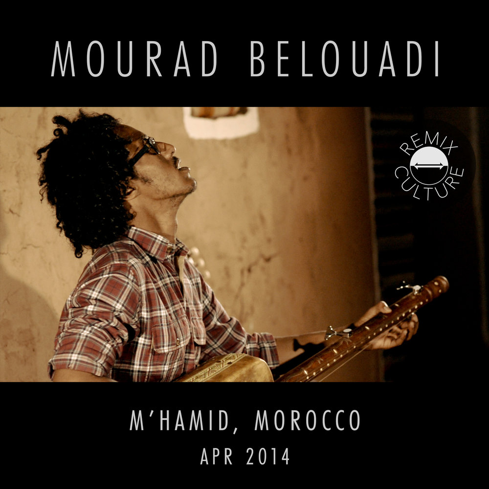 Mourad Belouadi  Rooted in the Gnawa tradition, this multi-instrumentalist genius shows us some of the infinite possibilities that can arise when one takes the Gnawa roots to other sonic worlds and instruments like the kalimba, the cheftali, the djembe, and even the 12-string guitar.