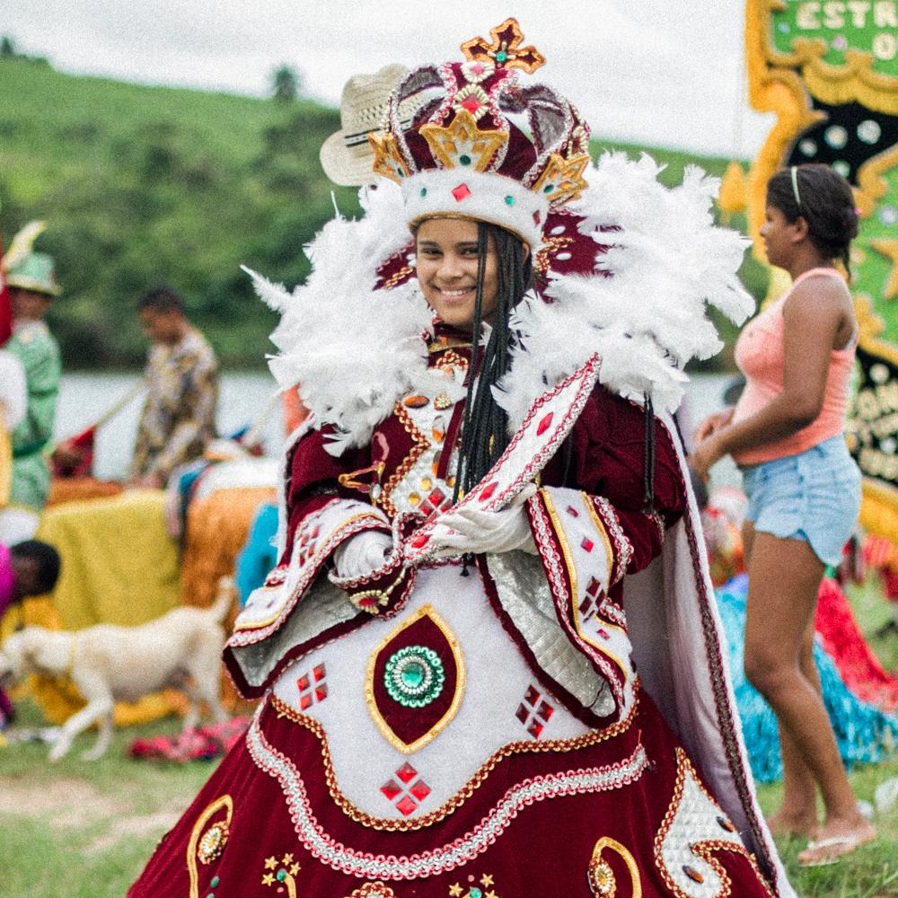 Maracatu De Baque Solto Estrela De Ouro - Stunning Afro-indigenous procession from Condado, a village in the northeastern state of Pernambuco.