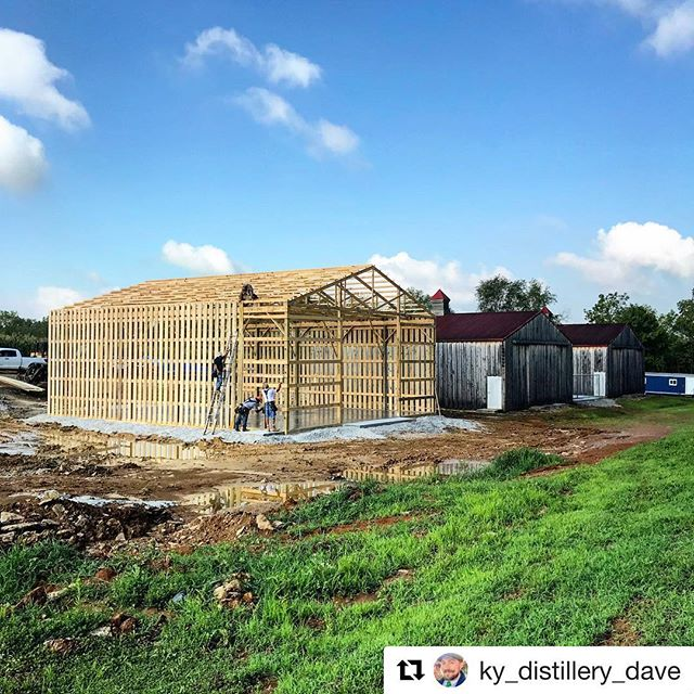 #Repost @ky_distillery_dave @jepthacreed  with @get_repost ・・・ Rickhouse number three on the way! We're filling our barrel storage to the brim and it is time to expand. Two more barns as soon as Three is done!  #cantstopwontstop #bourbon #bourbonbarrel #rickhouse #whiskey #whisky #bourbontrail #artisanspirits #craftdistillery #craftspirits