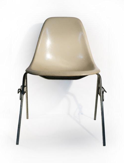 eames fiberglass dss stackable chair for herman miller tenon design