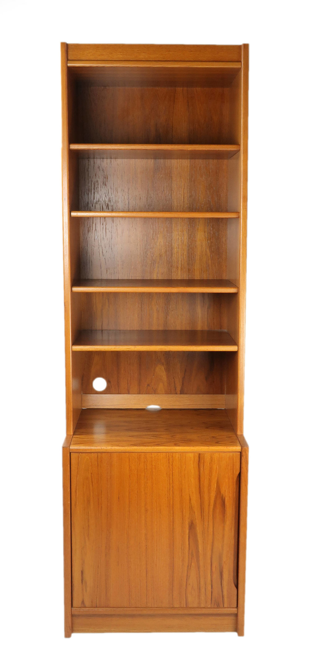 Two Piece Danish Modern Teak Bookshelf