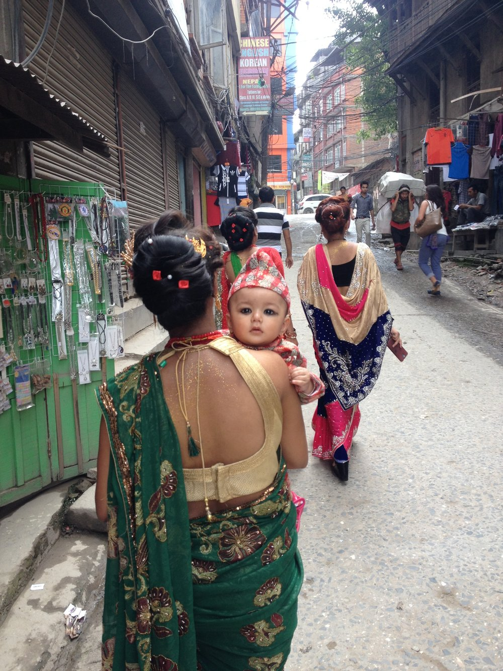 Streets of Thamel in Kathmandu. Pretty tempting, wouldn't you say?