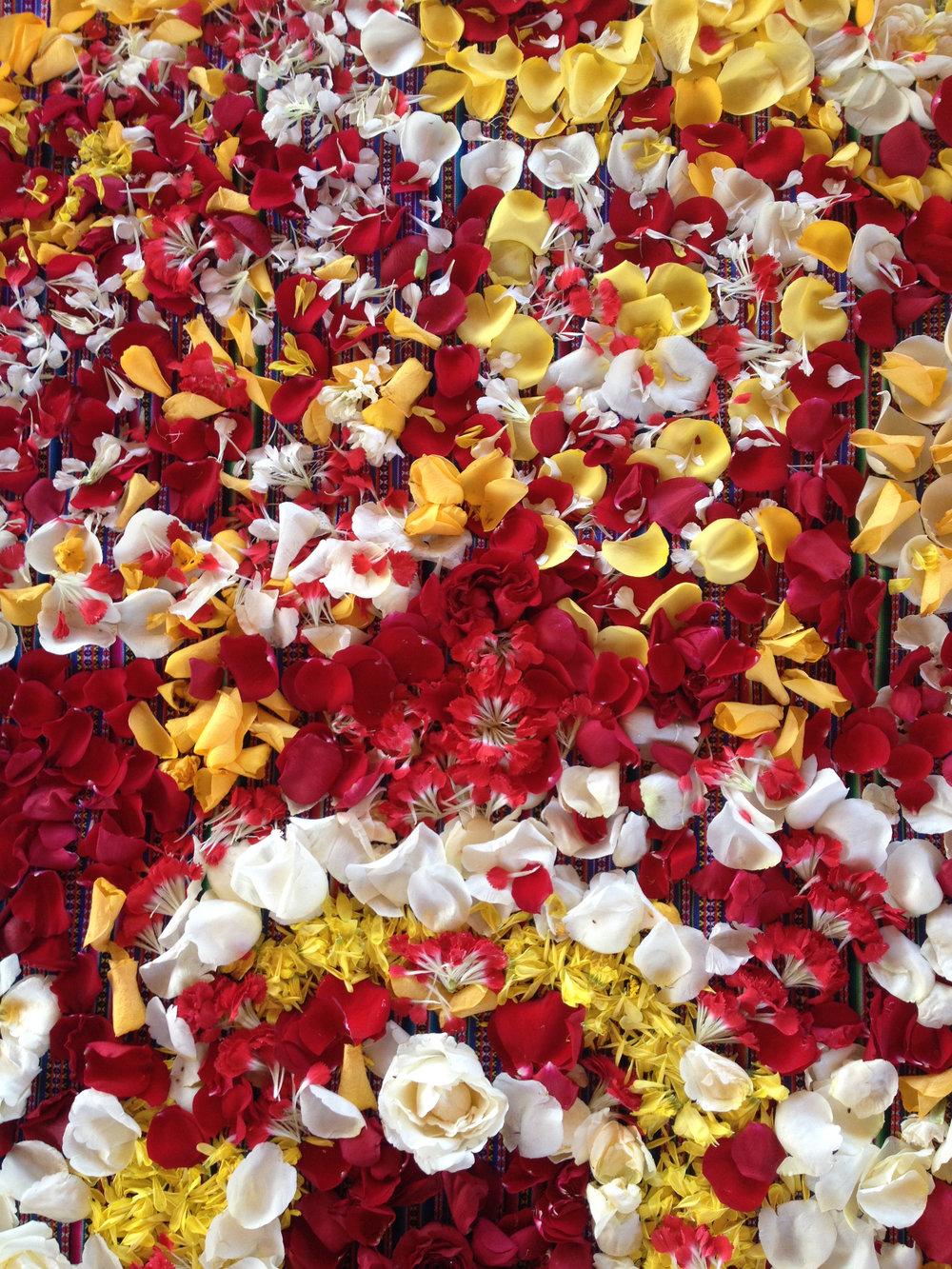 A mandala de flores.