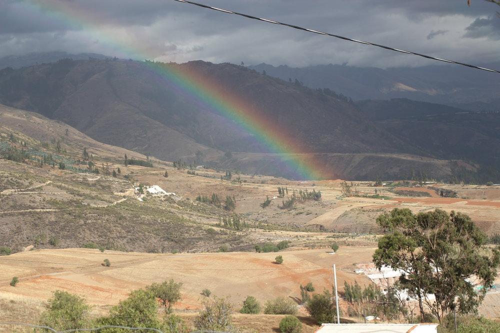 O arco-íris que se formou logo após a nossa volta.