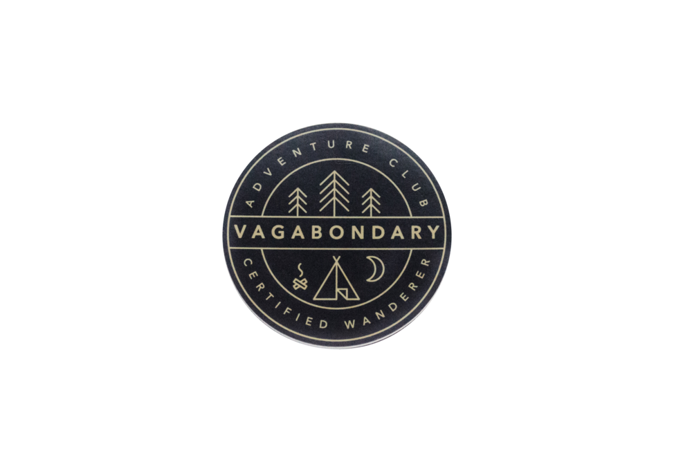 Vagabondary Adventure Club Sticker