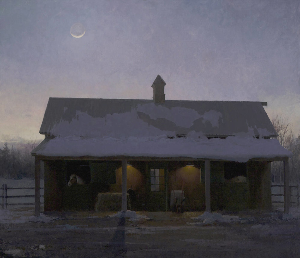 """New Moon"" oil on linen, 30 x 35 in., 2014"