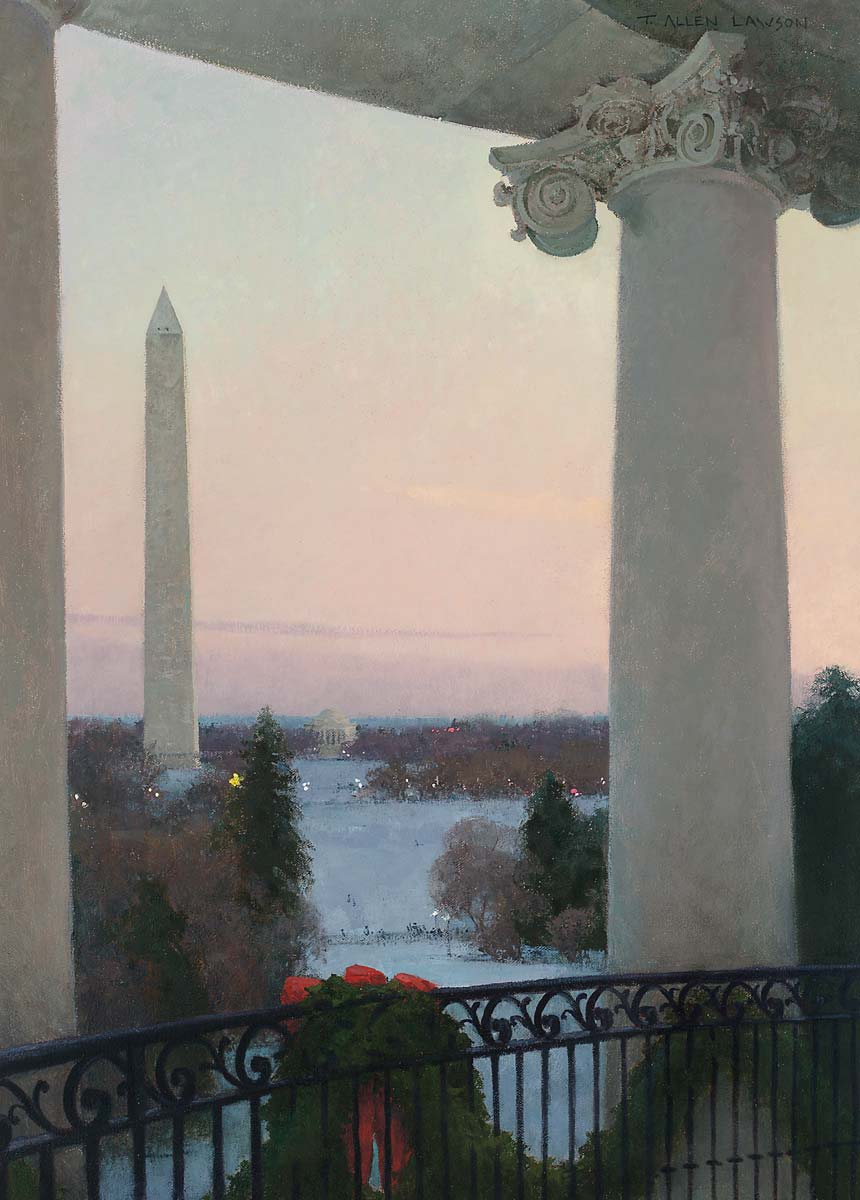 """View from the Truman Balcony"" oil on linen, 28 x 20 in., 2008"