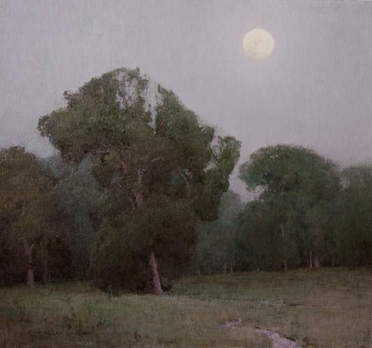 """Prairie Chapel Evening"" oil on linen, 24 x 26 in., 2010"