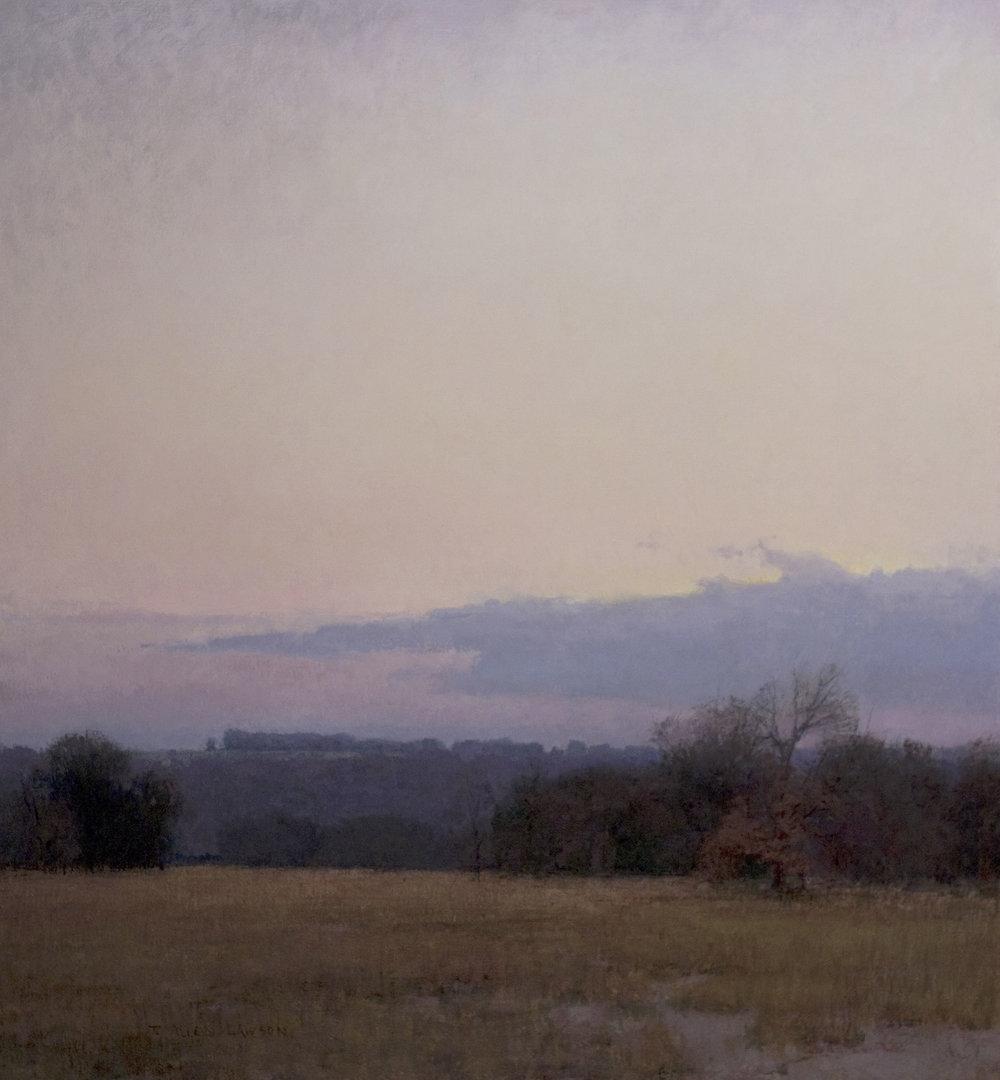 """Winter's Dawn"" oil on linen, 26 x 24 in., 2012"