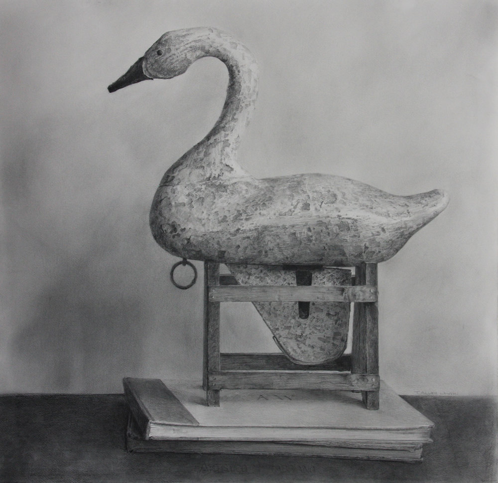 """Retired"" graphite on paper, 28 x 28.5 in., 2011"