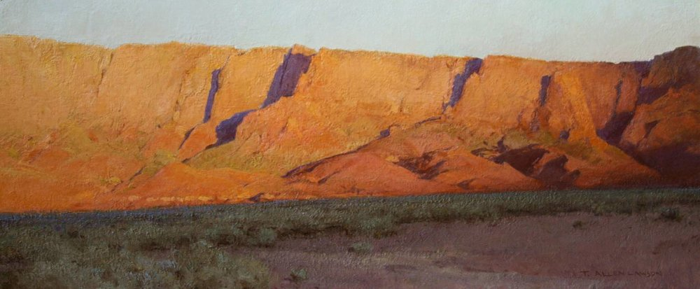 """Nothing Gold Can Stay"" oil on linen, 13 x 30 in., 2010"